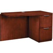 "HON® Arrive™ Right Return For Single Left Pedestal Desk, 29 1/2""H x 48""W x 24""D, Henna Cherry"