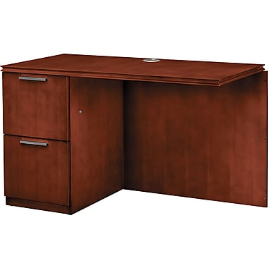 HON® Arrive™ Wood Veneer Base Left Return, 29 1/2in.H x 48in.W x 24in.D, Henna Cherry