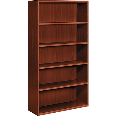 HON  Arrive 5-Shelf Wood Veneer Bookcase, Henna Cherry