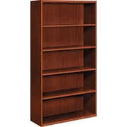 HON® Arrive™ 5-Shelf Wood Veneer Bookcase, Henna Cherry