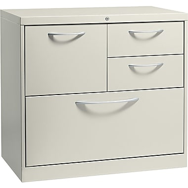HON® Flagship® 18in.D 4 Drawer File Center With Box/Box/File/Lateral File Drawer, Light Gray