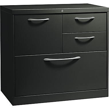 HON® Flagship® 18in.D 4 Drawer File Center With Box/Box/File/Lateral File Drawer, Black