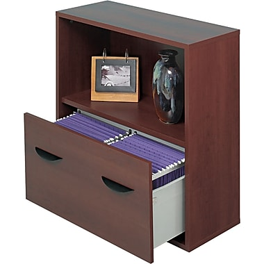 Safco ® Apres Laminated Compressed Wood File Drawer Cabinet, 30in.H x 30in.W x 12in.D, Mahogany