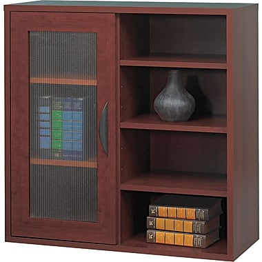 Safco  Apres Laminated Compressed Wood Single-Door Cabinet, 29 3/4in.H x 29 3/4in.W, Mahogany