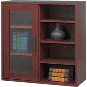 Safco  Apres Laminated Compressed Wood Single-Door Cabinet, 29 3/4H x 29 3/4W, Mahogany