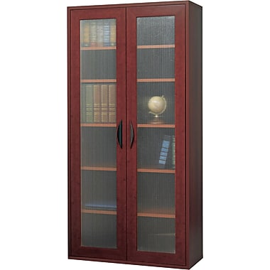 Safco  Apres Laminated Compressed Wood Tall Two-Door Cabinet, 59 1/2in.H x 29 3/4in.W, Mahogany