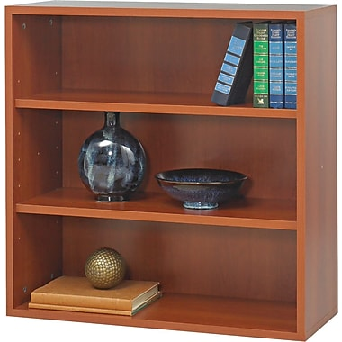 Safco  Apres Laminated Compressed Wood Open Bookcase, 29 3/4in.H x 29 3/4in.W, Cherry