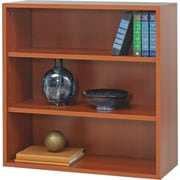"Safco  Apres Laminated Compressed Wood Open Bookcase, 29 3/4""H x 29 3/4""W, Cherry"