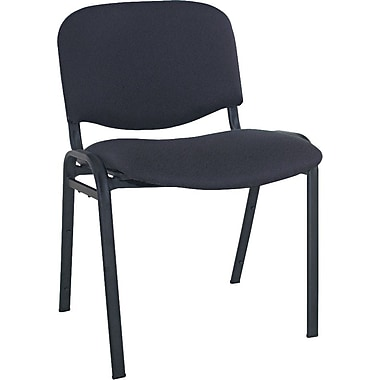Alera Continental 100% Acrylic Stacking Chair, Black