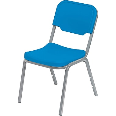 Iceberg Rough N Ready Blow Molded Polyethylene Original Stack Chair, Blue