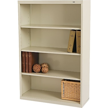 Tennsco 4-Shelf Commercial Grade Steel Bookcase , Putty