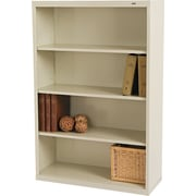 Tennsco 4-Shelf Commercial Grade Steel Bookcase , Putty