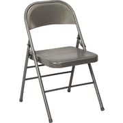 Bridgeport All Steel Folding Chair, Dark Gray