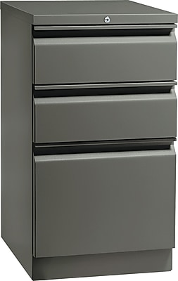 HON Flagship 3 Drawer Mobile/Pedestal File, Charcoal,Letter, 15''W (H18720RS) 843421