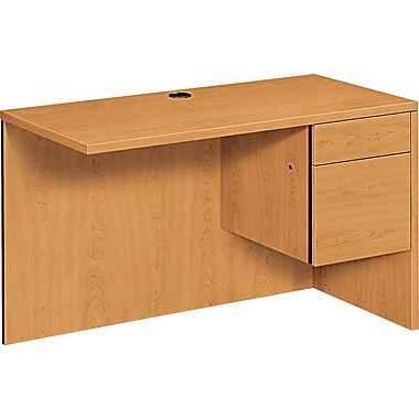 HON ® 10500 Woodgrain Laminate Base Right Workstation Return, 29 1/2in.H x 48in.W x 24in.D, Harvest