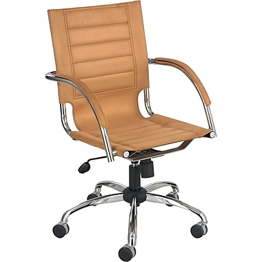 Safco® Flaunt™ Mid Back 100% Polyester Micro Fiber Managers Chair, Camel