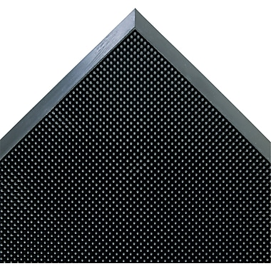 Floortex™ Scraper Brush Door Mat, Black