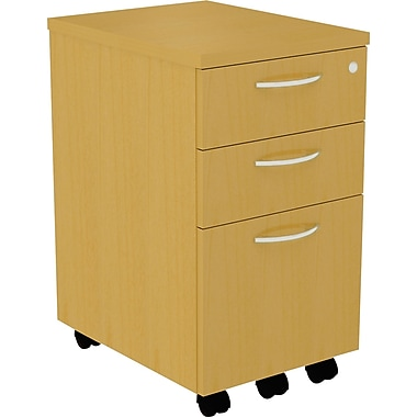 Alera® SedinaAG 20in.D 3 Drawer Mobile Box/Box/File Pedestal, Maple