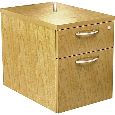 Alera® SedinaAG 22in.D 2 Drawer Hanging Box/File Pedestal, Maple