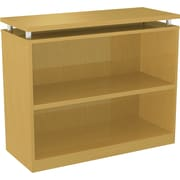 Alera® 2-Shelf SedinaAG Series Woodgrain Laminate Bookcase, Maple