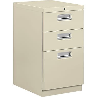 HON® Brigade® 19 7/8in.D 3 Drawer Mobile Box/Box/File Pedestal, Putty