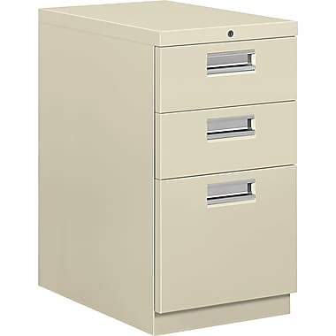 HON® Brigade® 22 7/8in.D 3 Drawer Mobile Box/Box/File Pedestal, Putty