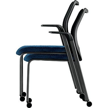 HON® Nucleus® Mesh Back Stacking Chair, Mariner/Black (HONN606NT90)