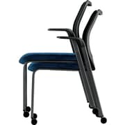 HON® Nucleus® 100% Polyester Multipurpose Stacking Chair, Mariner Seat, Black Base