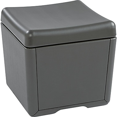 Iceberg Otto™ 18in.D High-Density Polyethlene File Ottoman, Charcoal