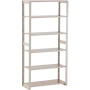 "Tennsco Heavy-Duty Rolled Steel Regal Shelving Add-On Unit, 6 Shelves, 76""H x 36""W x 15""D"