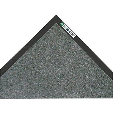 Crown EcoStep™ Wiper Mat, 60in.L x 36in.W, Charcoal