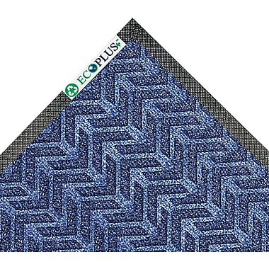 Crown EcoPlus™ Wiper/Scraper Mat, 118in.L x 35in.W, Midnight Blue