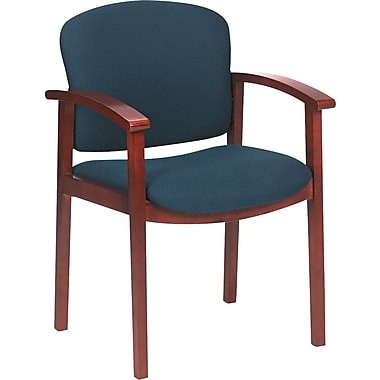 HON ® 2111 Invitation ® Reception 100% Olefin Guest Chair, Blue, Henna Cherry Base