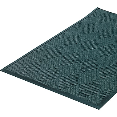 Crown Super-Soaker™ Polypropylene Diamond Wiper/Scraper Mat, 115in.L x 34in.W, Slate