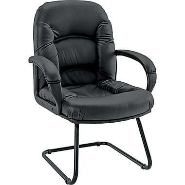 Alera Nico Faux Leather Guest Chair, Black