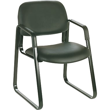 Safco Cava Urth Steel Guest Chair, Black (7047BV)