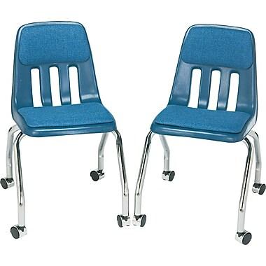 Virco® Fabric-Covered Pads High-Density Plastic Teacher's Chair, Navy
