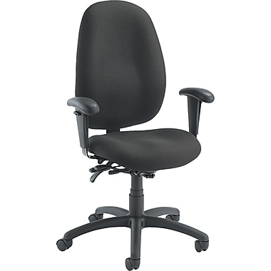 Global Malaga ® High Back Multi-Tilter Polypropylene Swivel Chair, Asphalt