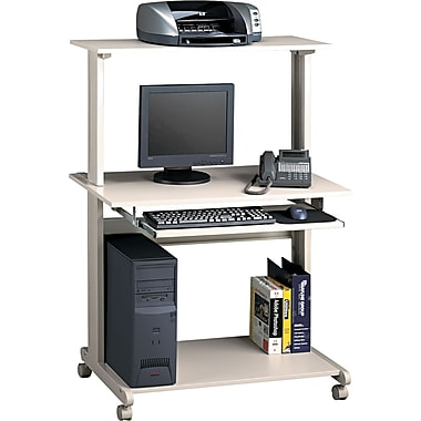 Mayline® Eastwinds™ 50in.H x 36 3/4in.W x 21 1/4in.D Multimedia Mobile Workstation, Gray