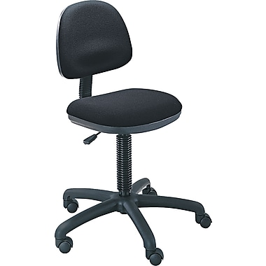 Safco ® 30% Polyester/70% Olefin Precision Desk Height Swivel Chair, Black