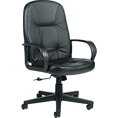 Global Arno Leather Executive High Back Swivel/Tilt Chair, Black