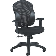 Global Tye Mid Back Mock Leather Swivel/Tilt Chair, Black