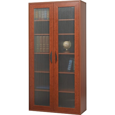Safco  Apres Laminated Compressed Wood Tall Two-Door Cabinet, 59 1/2in.H x 29 3/4in.W, Cherry