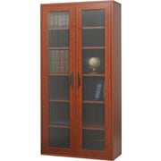 Safco  Apres Laminated Compressed Wood Tall Two-Door Cabinet, 59 1/2H x 29 3/4W, Cherry
