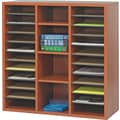 Safco  Apres Laminated Compressed Wood Literature Organizer, 29 3/4in.H x 29 3/4in.W, Cherry