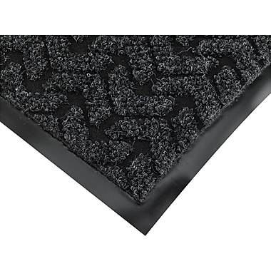 Crown Tire-Track™ Polypropylene/Vinyl Wiper/Scraper Mat, 72in.L x 48in.W, Anthracite
