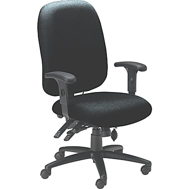 Mayline ® 24-Hour High-Performance Acrylic/Poly Blend Fabric Swivel Task Chair, Black