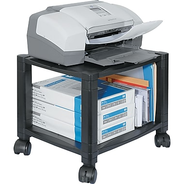 Kantek 14 1/8in.H x 17in.W x 13 1/4in.D Mobile Printer Stand, Black