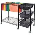 Advantus® 15 1/2in.D 3 Drawer Mobile File Cart With Drawers, Black