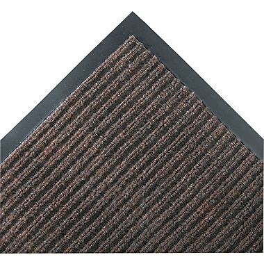 Crown Needle-Rib™ Polypropylene Wiper/Scraper Mat, 120in. x 36in., Brown